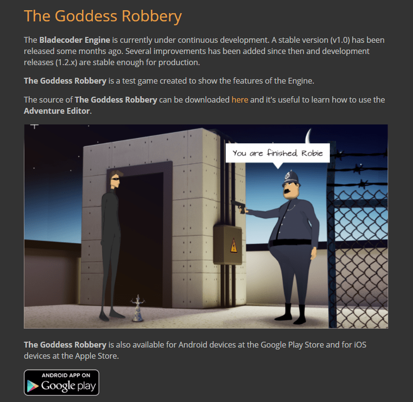 the goddess robbery